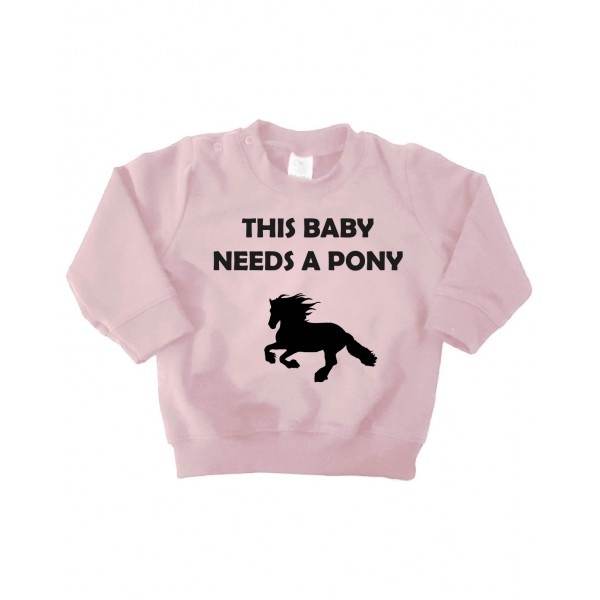 This baby needs a pony