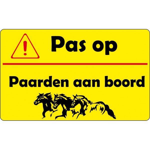 Pas op paarden aan boord